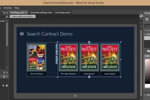 blendability How to build a simple Win 8 Store App and also implement the Search Contract without using VS built in Search Contract Template